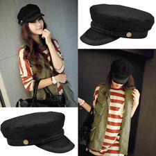 Women Casual Sunhat Fashion Embroidery Lace Cap Decor Captain Hat Beret Showy
