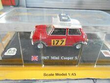 AUSTIN Mini BMC Cooper S Rallye Monte Carlo 1967 #177 Aaltonen 1st Atlas 1:43