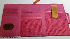 Point pocket car visor organizer ` pink/rose color  `  Canvas Leather and mesh