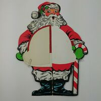 Beistle Honeycomb Standing Santa Claus Vintage Christmas Table Decor Candy Cane
