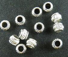 250pcs Tibetan Silver Bail Style Spacer Beads Jewelry DIY 5.5x4mm