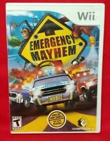 Emergency Mayhem  - Nintendo Wii Game Complete 1 Owner Mint Disc 1-2 players