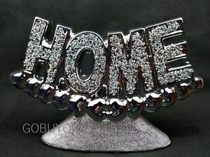 Crushed Diamond Home Sign Mirrored Mirror jewel Home Letters Decor Ornament