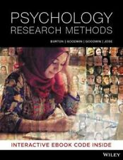 NEW Psychology Research Methods 1st Edition By Lorelle J. Burton Paperback
