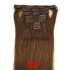 EXTENSIONS DE CHEVEUX A CLIPS REMY HAIR 46-60CM COULEURS AUX CHOIX 100%25 NATURELS
