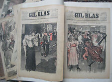 Gil Blas über 130 originale Farblithographien 1893-1900 von Th. A. Steinlen