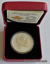 2016 Canada Maple Leaf POPPY $5 Silver ANA California State Flower#coinsofcanada