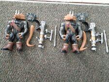 Teenage Mutant Ninja Turtles TMNT Triceraton Warrior 2004 Playmates Complete x2