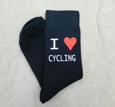 I Love Cycling Men's Socks Vinyl Printed Ideal Novelty Gift Fathers Day Gift