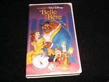LA BELLE ET LA BETE°UN NOEL ENCHANTÉ<>FRENCH ED.<>VHS VIDEO TAPE  °  11529/23