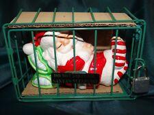 Enesco Do Not disturb Santa's sleeping ceramic Christmas savings bank Nib