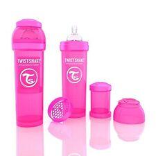 Agitador de anti-cólico twistshake (330 Ml/11 Oz Rosa) Bebé Alimentación DEHP libre de BPA & N