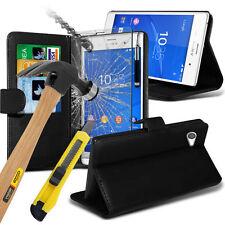 Fundas y carcasas Para Sony Xperia Z3 Compact de piel para teléfonos móviles y PDAs