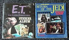 1982 Topps E T sticker album + Panini Return Of The Jedi Star Wars sticker album