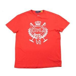 Polo Ralph Lauren Classic Fit Crest Jersey Savannah T-Shirt Red XXL New