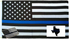 Wholesale 3x5 Police USA Memorial Flag Decal Sticker Memorial Lapel Pin Set 2