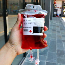 500ML Clear Blood Drink Bag Food Grade PVC Blood Bag Vampire Prop Halloween Lw