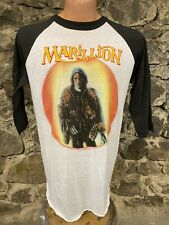 Vintage 1980s Marillion Rock Concert Band Tour Raglan Shirt Rare