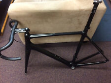 New Stealthy carbon road bike frame, tapered carbon fork, seatpost, bars, stem