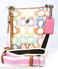 NWT Coach Scribble Hampton Swingpack/Crossbody Shoulder Pink Multi Color F 41187