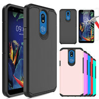 For LG Xpression Plus 2 Shockproof Case Cover /Tempered Glass Screen Protector