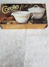 Vintage NOS Corelle Butterfly Gold Sugar And Creamer Set