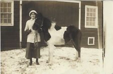 ca.1910 RP postcard - Louise Miller and Pony - Pickle Hill Farm, Ft. Plain, NY