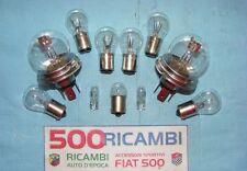 FIAT 500 F/L/R KIT COMPLETO LAMPADINE X FARI + FANALINI + FRECCE W5W + TARGA