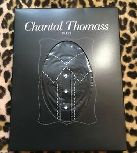 CHANTAL THOMASS VINTAGE BLACK STAY-UPS STOCKINGS~SWEET BLOUSE DESIGN~NEW & BOX~S