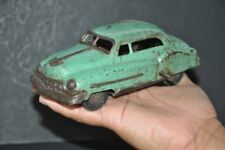 Vintage Wind Up Green Unique Litho Car Tin Toy, Collectible