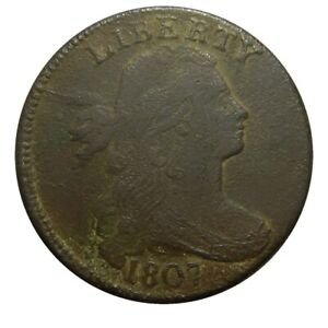 Large cent/penny 1807 comet variety sharp feature