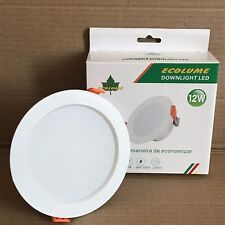 Ecolume 12w LED Downlight with Built In Driver - 120mm Dia - 6500k Colour