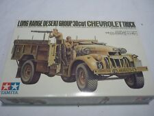 A Tamiya unmade plastic kit of a long range desert group 30cwt Chevrolet truck