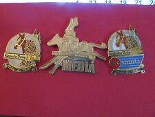 Set of 3 Very Nice Kentucky Derby Lapel Pins