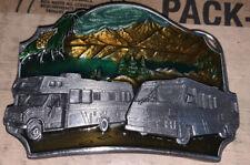 Siskiyou 1987 Rv Motor Home Camper Pewter metal belt buckle