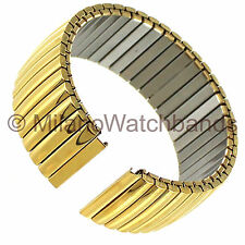 22mm Hadley Roma Smart22 Stainless Domed Shiny IP Gold Plated Watch Band 8015