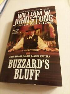 Western Paperback Book Buzzard's Bluff by William W. Johnstone