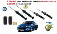 FOR PEUGEOT 407 1.2004-> 2X FRONT + 2X REAR SHOCK ABSORBER SET + FRONT BUMP STOP