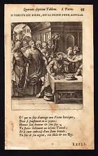 THERSITE DEVIENT ACHILLE AVEC LA RICHESSE gravure ancienne originale de 1678