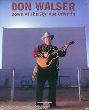 DON WALSER 1998 AT THE SKY-VUE DRIVE-IN PROMO POSTER ORIGINAL