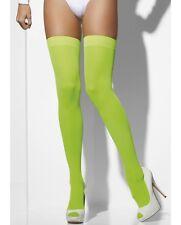 Donna Sexy Sopra il ginocchio AUTOREGGENTI OPACO Calze costume Verde