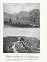 1897 Vittoriano Stampa ~ High Tor Matlock Peak District ~ Coupee Sark Canale