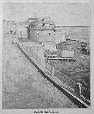 1899 =TARANTO,CASTELLO SANT'ANGELO =PUGLIA. Xilo+Passepartout.Etna.Premoli