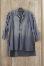 Antique French shirt peasant travaille bleus WORK / CHORE wear TIMEWORN distress