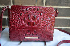 NWT BRAHMIN Carrie Crossbody Melbourne  Cranberry berry deep red