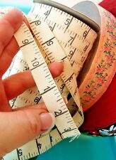 Fabric Trim Rule measuement twill tape print 5/8 inch wide by the yard