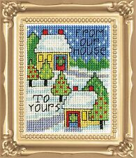 Cross Stitch Kit Design Works Christmas Our House Picture w/Frame & Mat #DW544