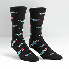 Sock It To Me Men's Crew Socks - 3D Glasses