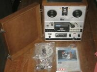 Akai GX-365D Professional Open Reel Stereo Tape Deck, Accessories, Docs UNTESTED