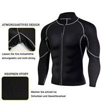 A4 Mens Sweat Neoprene Weight Loss Sauna Suit Workout Shirt Body Shaper Fitness